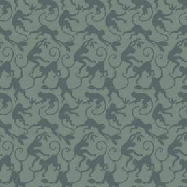 Monkey Business Dusk Designer Wallpaper Grey (300074)
