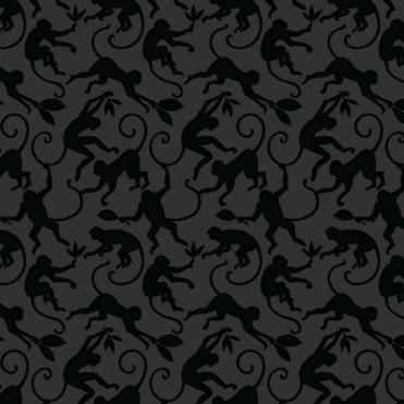 Treetops Jungle Night Designer Wallpaper Black, Grey (300069)