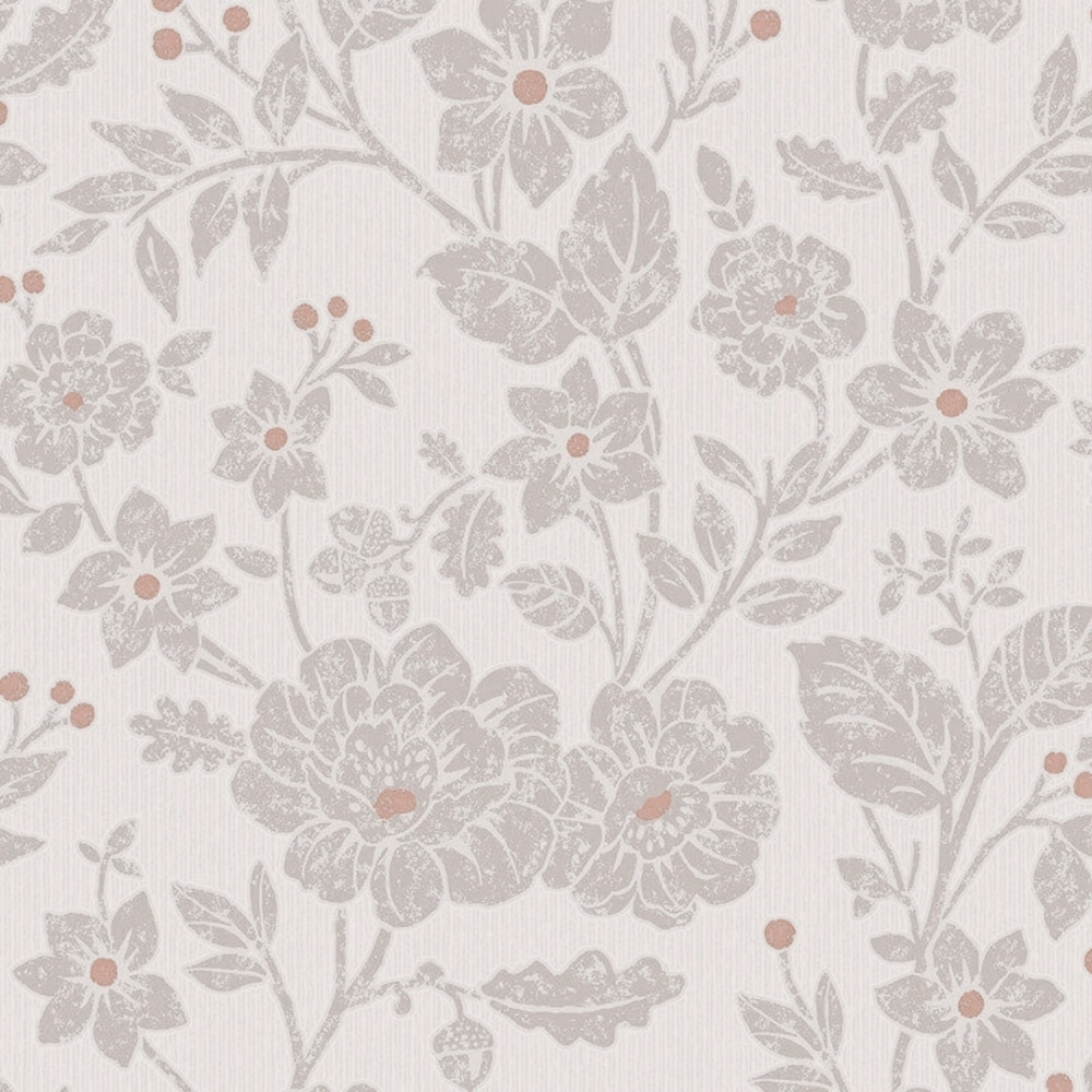 Crown Alexandra Floral Wallpaper Burnt Orange Wallpaper From I