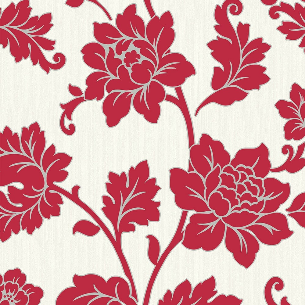 Arthouse Anya Motif Floral Wallpaper Red 886104 Wallpaper From