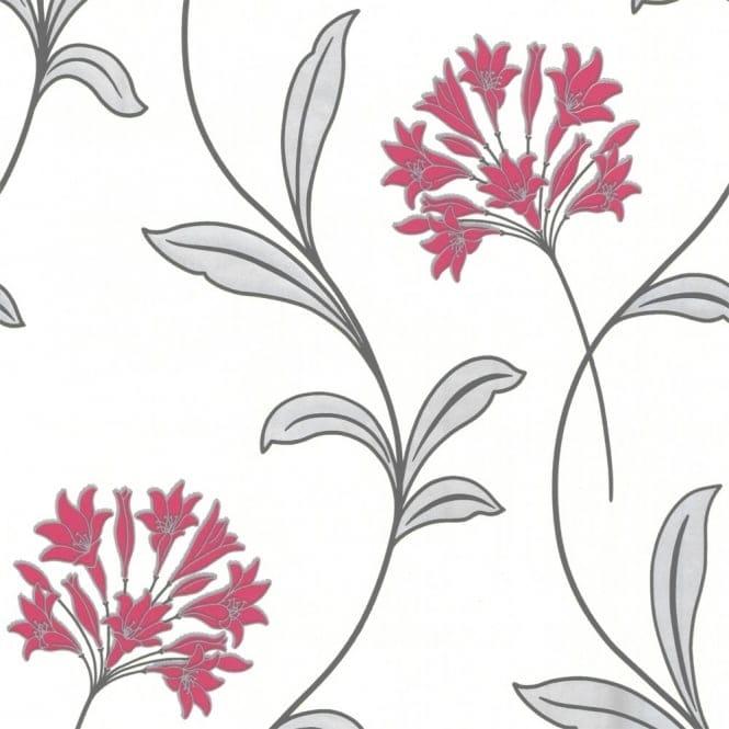 Arthouse Opera Astra Motif Wallpaper Pink / Cream (823806