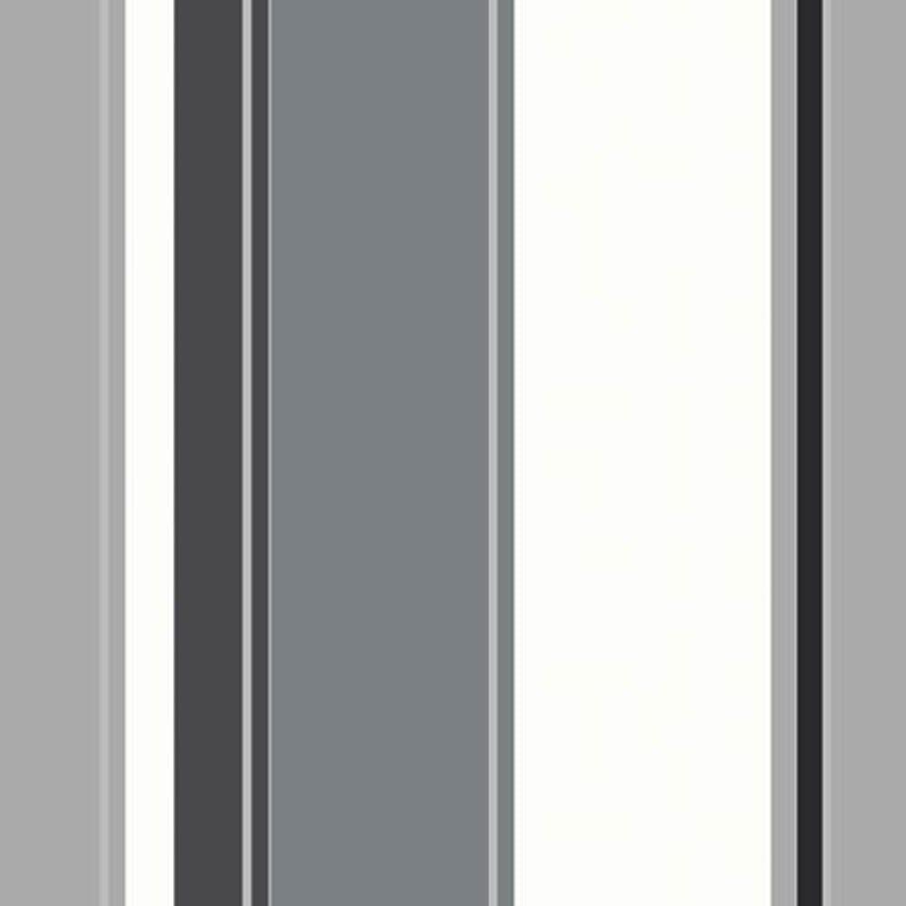 Opera Carina Striped Wallpaper Black Grey White 870600