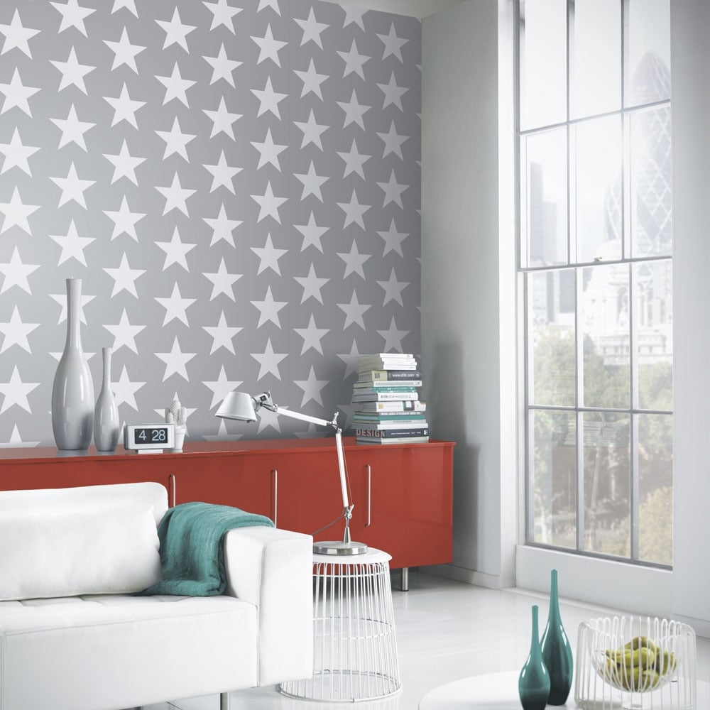Arthouse Vintage Starry Night Wallpaper Silver 891301