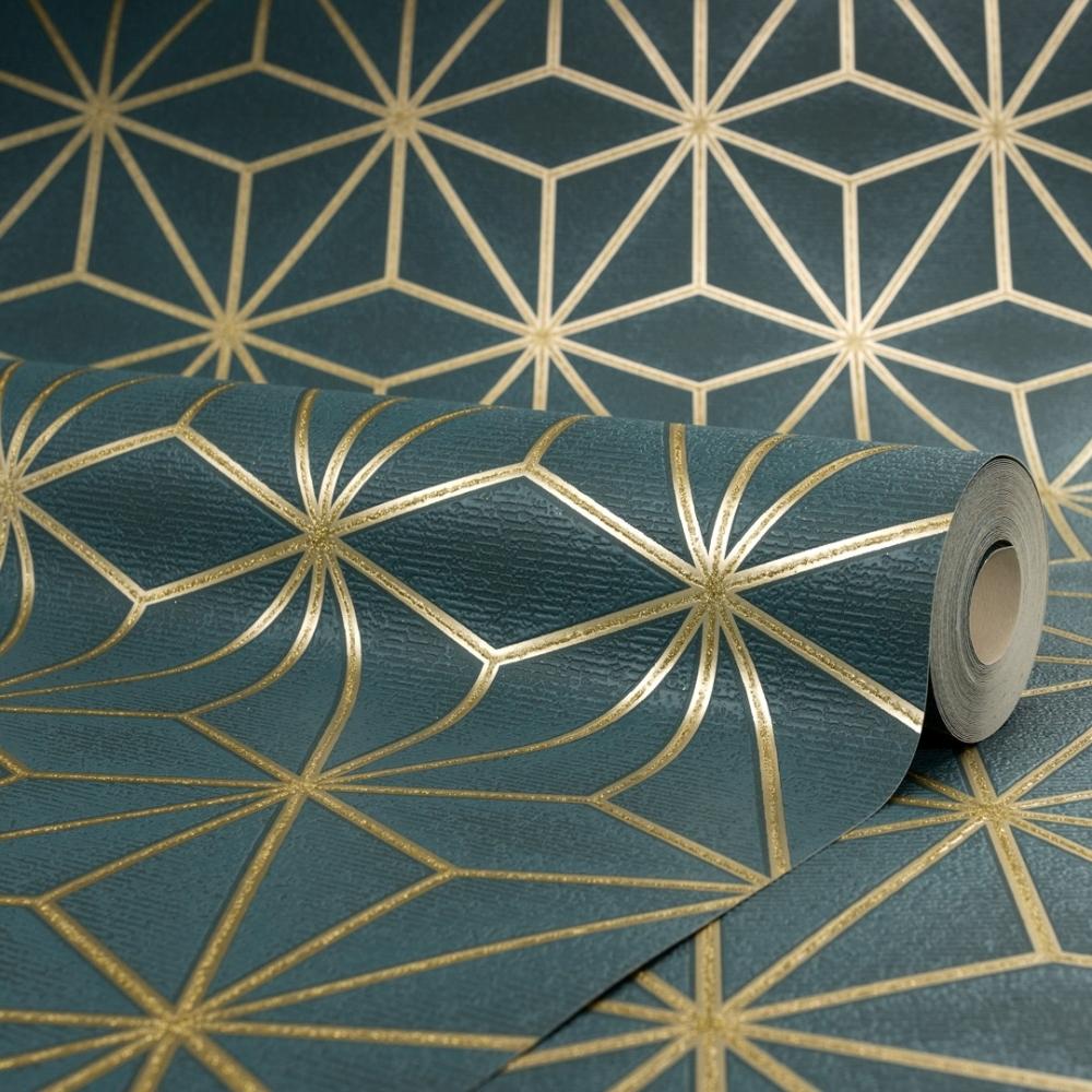 I Love Wallpaper Astral Metallic Wallpaper Emerald Green Gold Wallpaper From I Love Wallpaper Uk