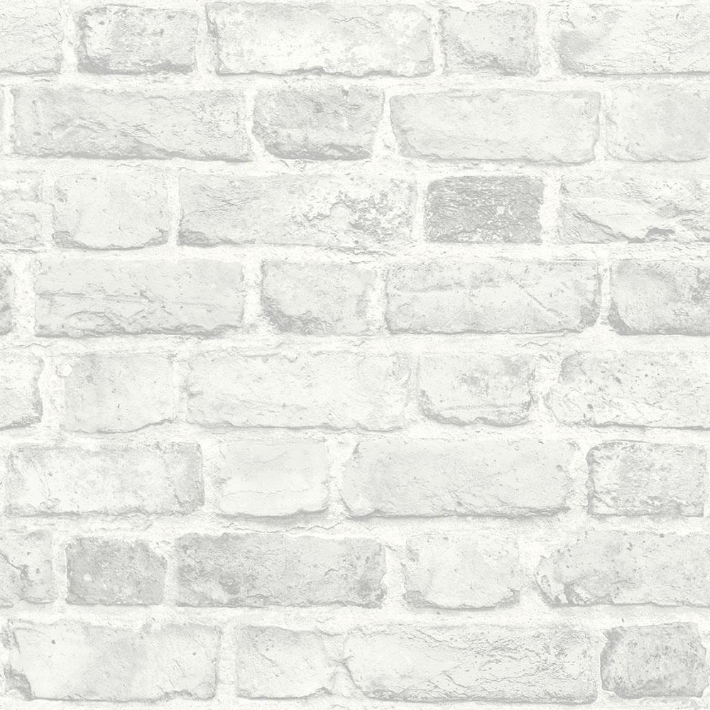 I Love Wallpaper Battersea Brick Wall Effect Wallpaper White Wallpaper From I Love Wallpaper Uk
