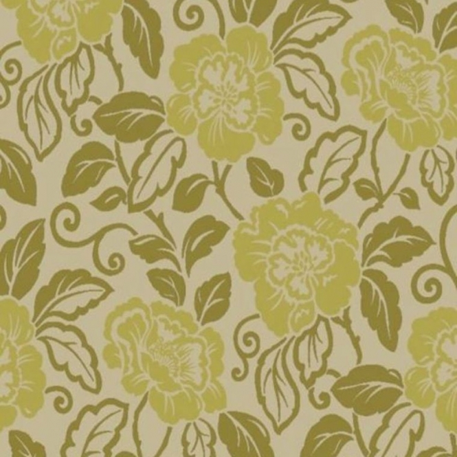 Sophie Conran Belle Designer Flock Wallpaper Moss Green (980507)
