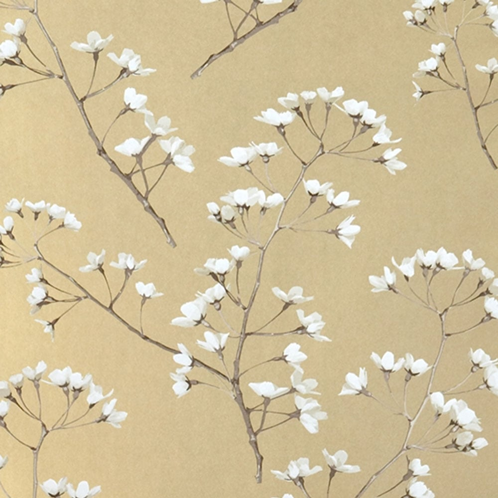 Jocelyn Warner Blossom Hand Screen Printed Floral Wallpaper