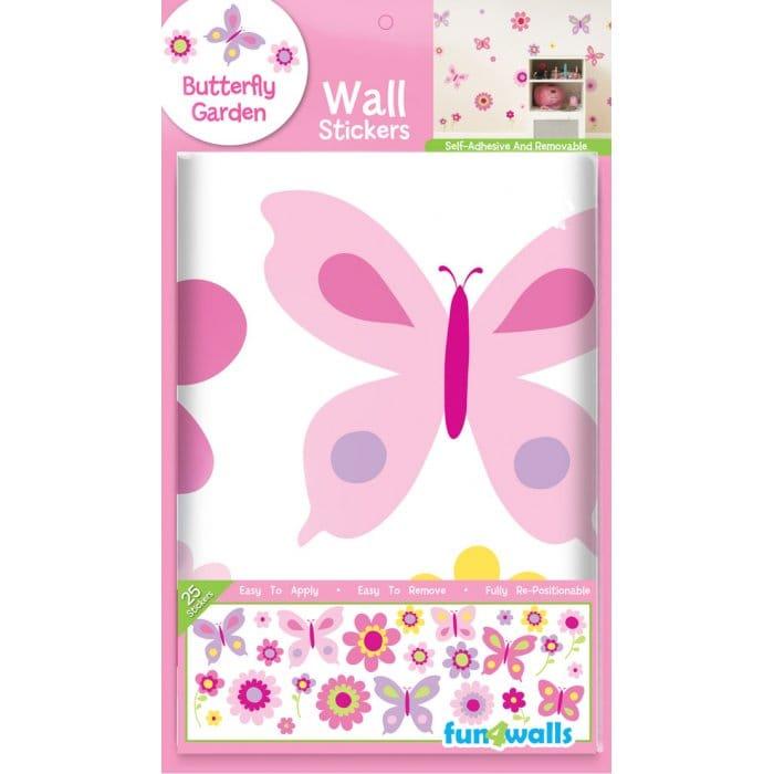 Fun4Walls SA30149 Wall Stickers Butterfly Garden Stickarounds Pink
