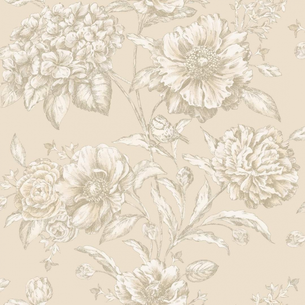 Camille Cordelia Floral Wallpaper Neutral 97830 Wallpaper From