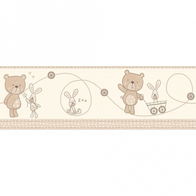 Decorline Carousel Bear and Boo Border Natural (DLB50070)