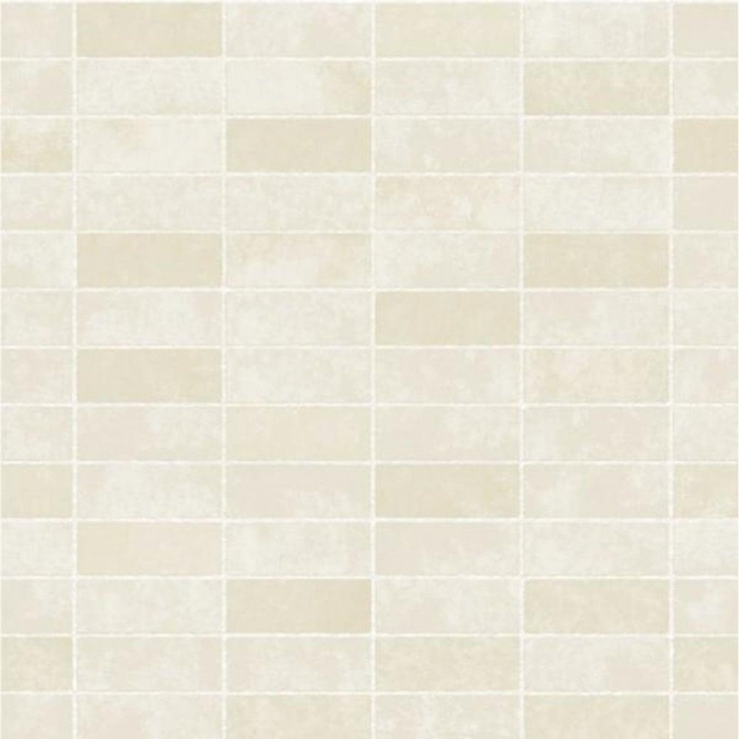 Fine Decor Ceramica Small Tile Effect Wallpaper Cream, Ivory (FD40119)