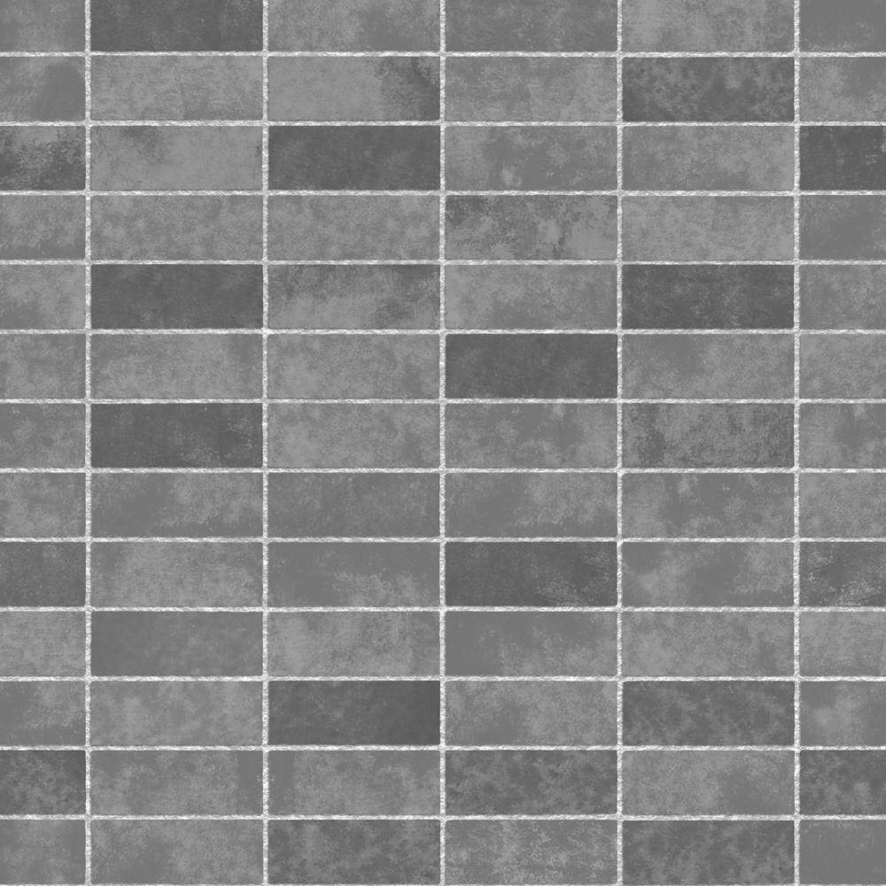 Fine Decor Ceramica Small Tile Effect Wallpaper Slate, Charcoal ...