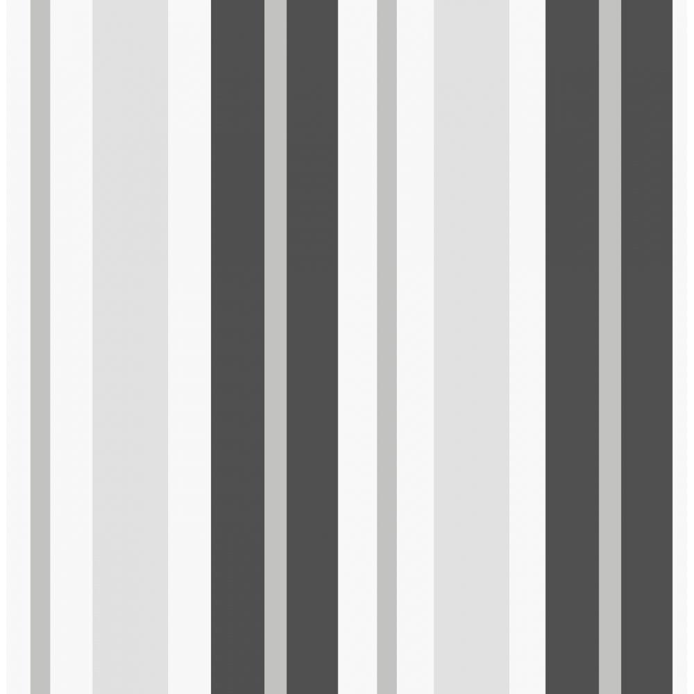 Fine Decor Ceramica Stripe Wallpaper Black / Silver / White (FD40377 ...