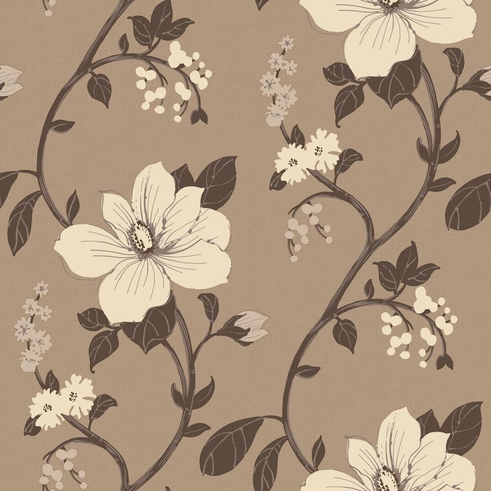 Arthouse Charleston Floral Wallpaper Stone 407205 Wallpaper