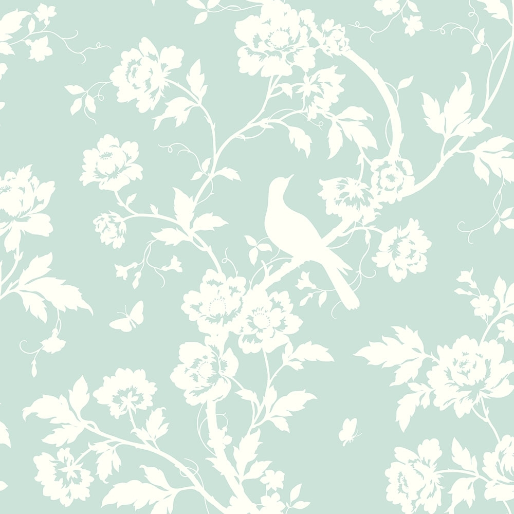 Fine Decor Chinoiserie Floral Wallpaper Mint Green Wallpaper