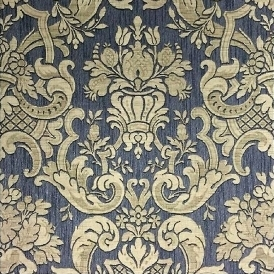 Classic Damask Wallpaper Charcoal, Gold (M95551)