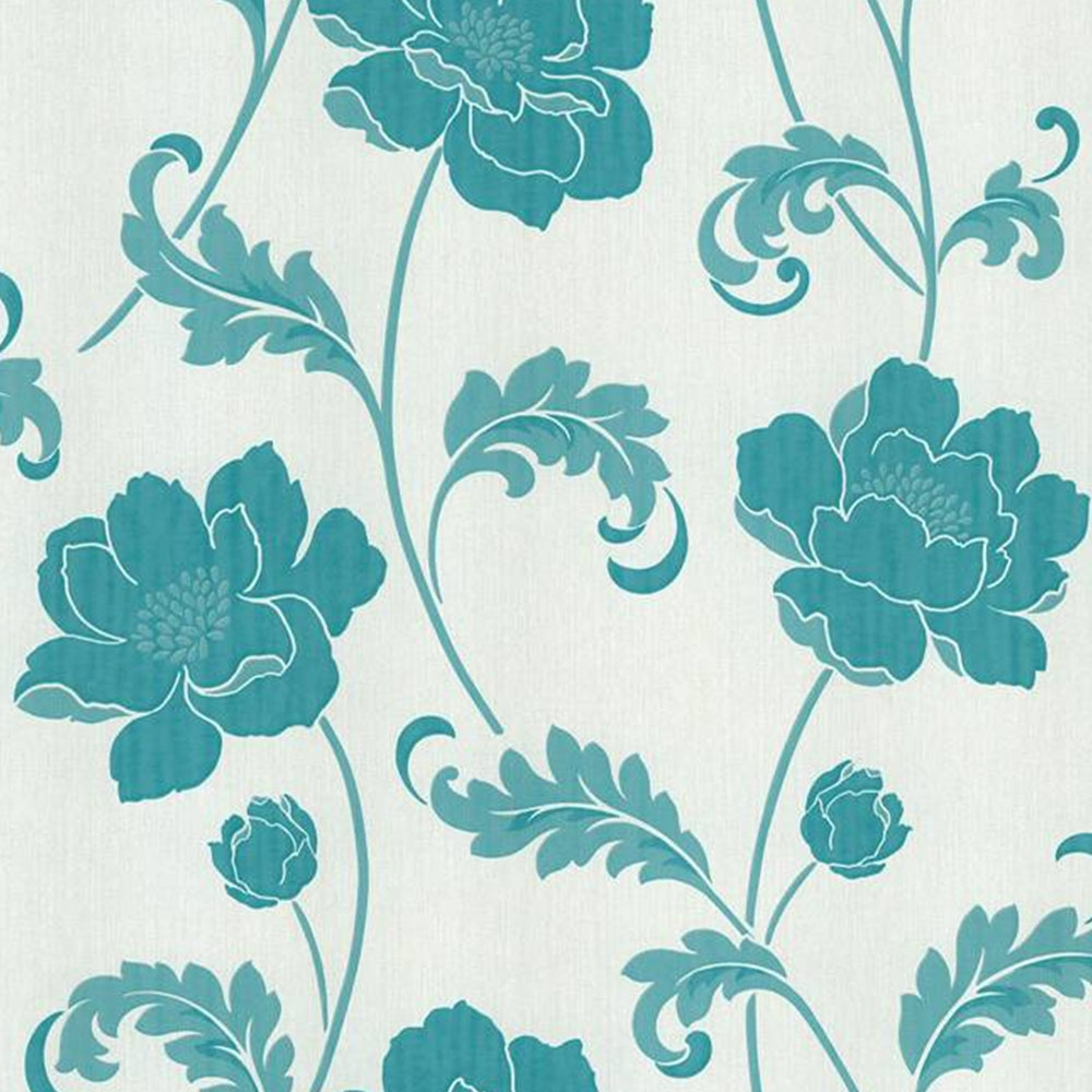 Buy Crown Flourish Wallpaper Plum Purple Cream