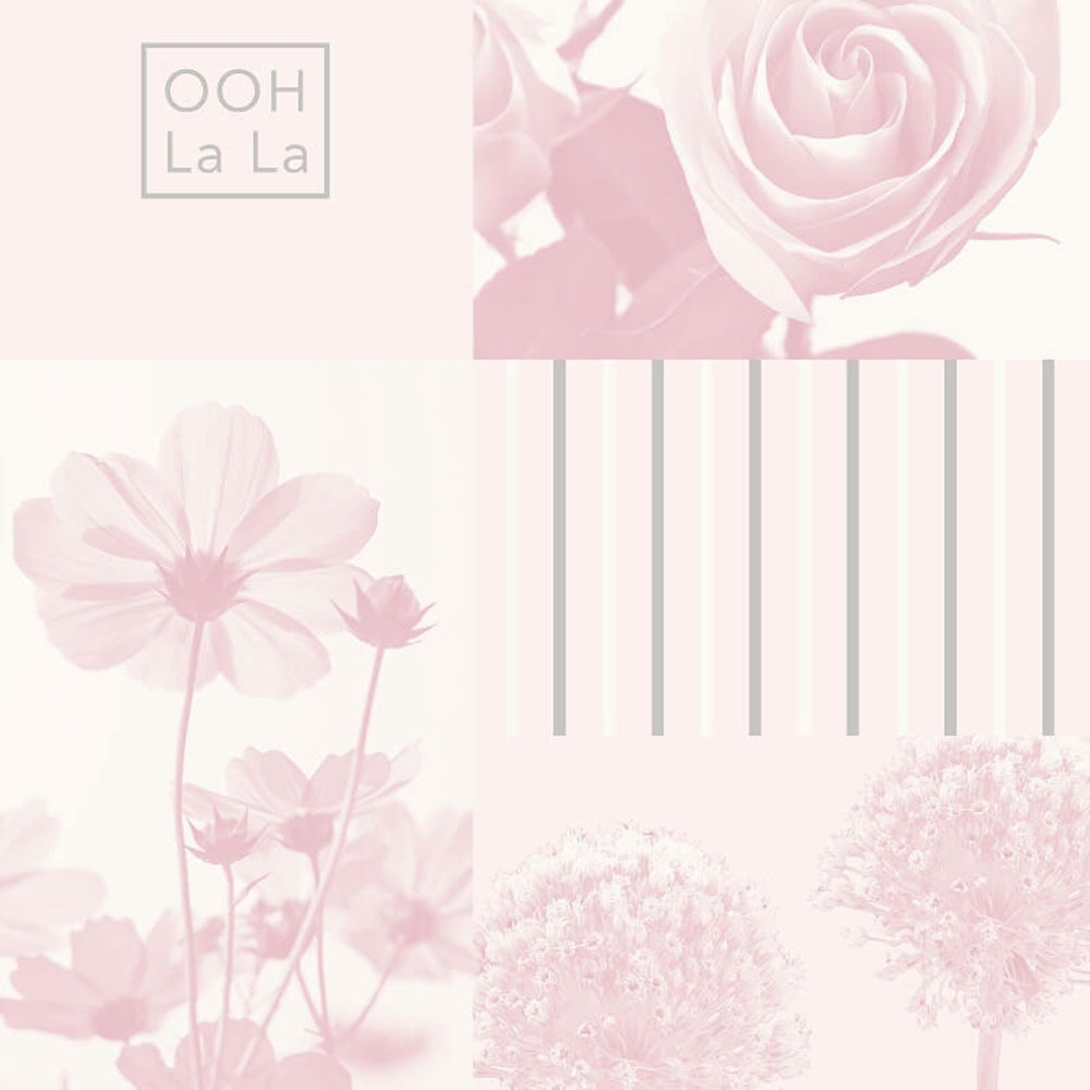 Crown Coco Floral Art Wallpaper Soft Pink Wallpaper From I Love