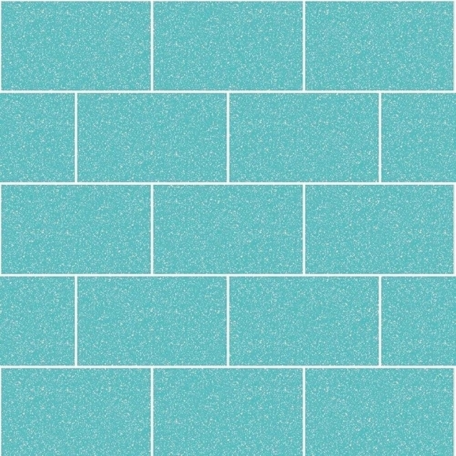 Crown London Tile Wallpaper Aqua (M1122)