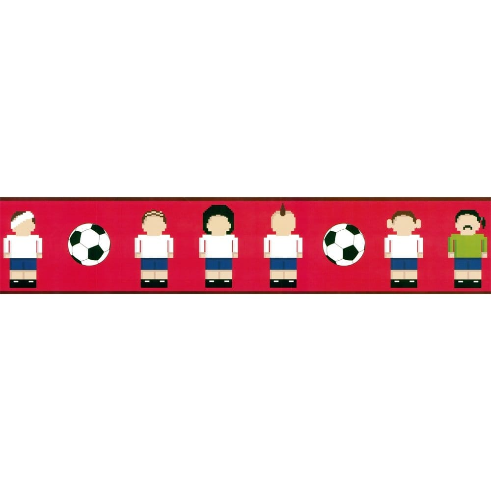 Designer Selection Football Pixel Men Self Adhesive Wallpaper Border 01429ftmn