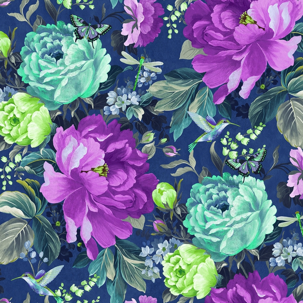 A Shade Wilder Dianthus Floral Wallpaper Loganberry 300110
