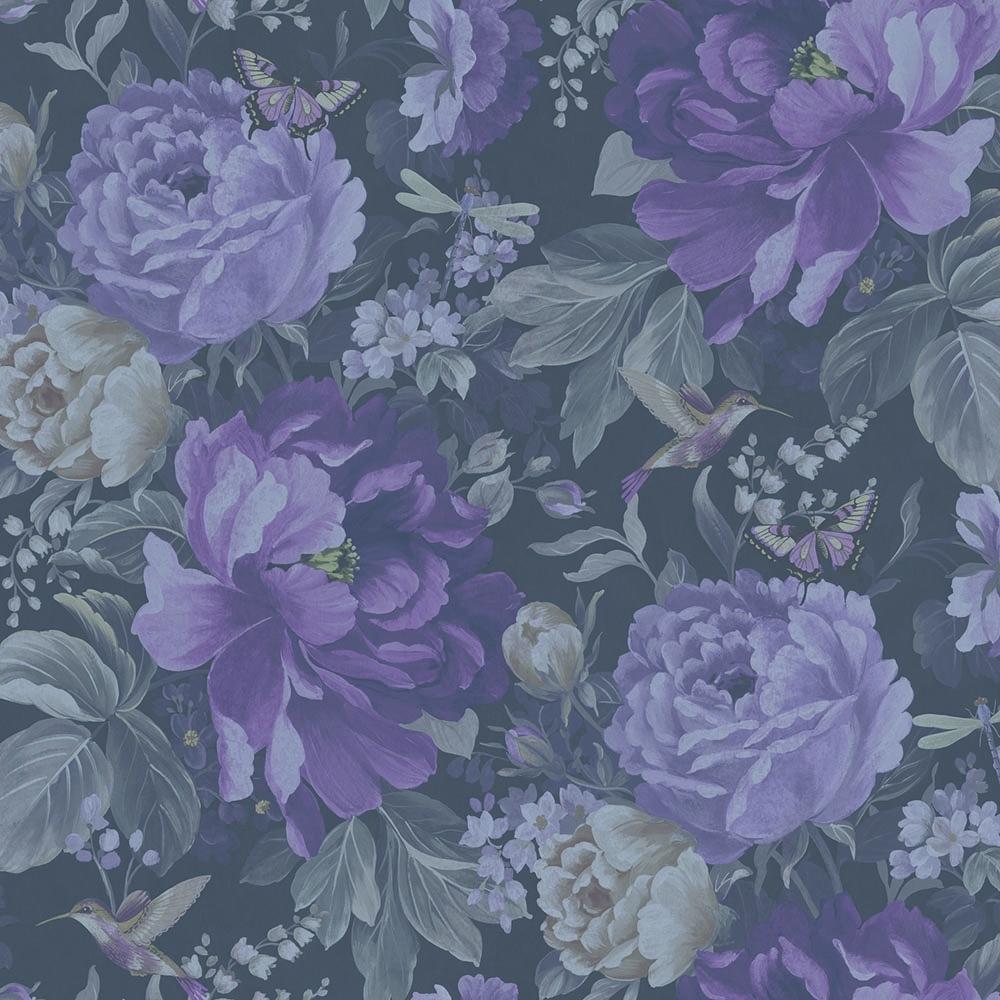 A Shade Wilder Dianthus Floral Wallpaper Purple Haze