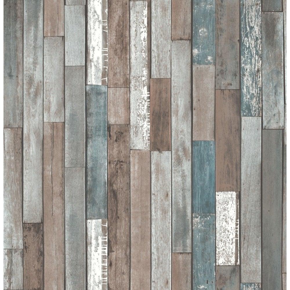 Fine Decor Distinctive Parquet Wood Reclaim Wallpaper Blue Fd40888 From I Love Uk