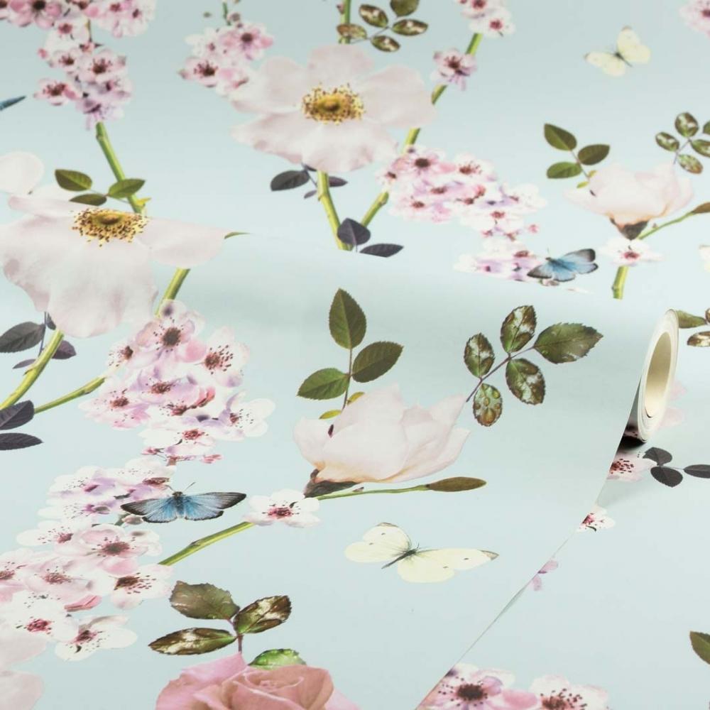 I Love Wallpaper Dreamscape Floral Trail Wallpaper Blue 902005