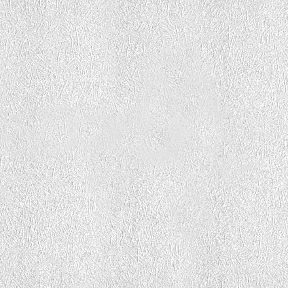 Novaboss Basic Embossed Paintable Wallpaper White (244)