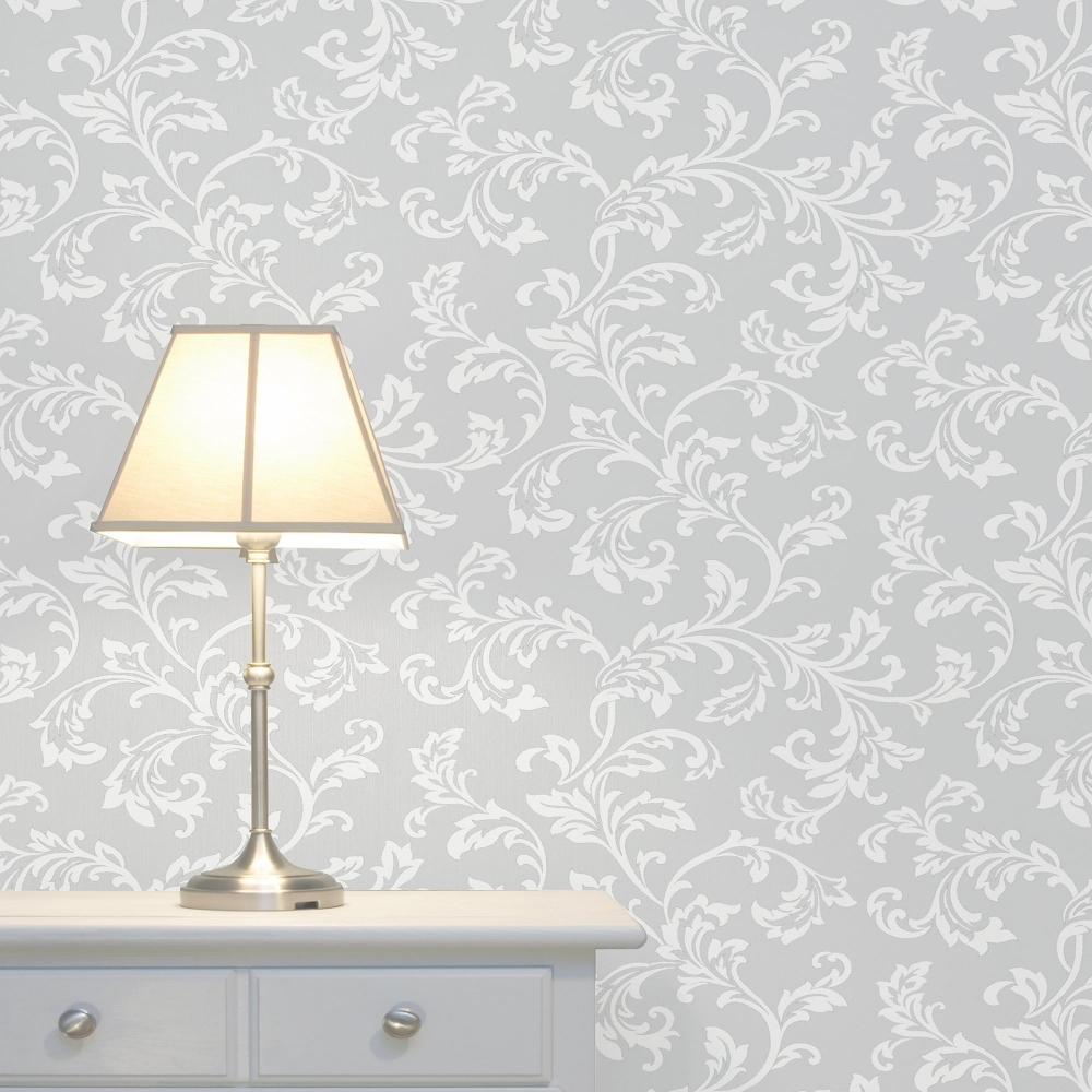 Fine Decor Cavendish Floral Wallpaper Grey Fd40990 Wallpaper