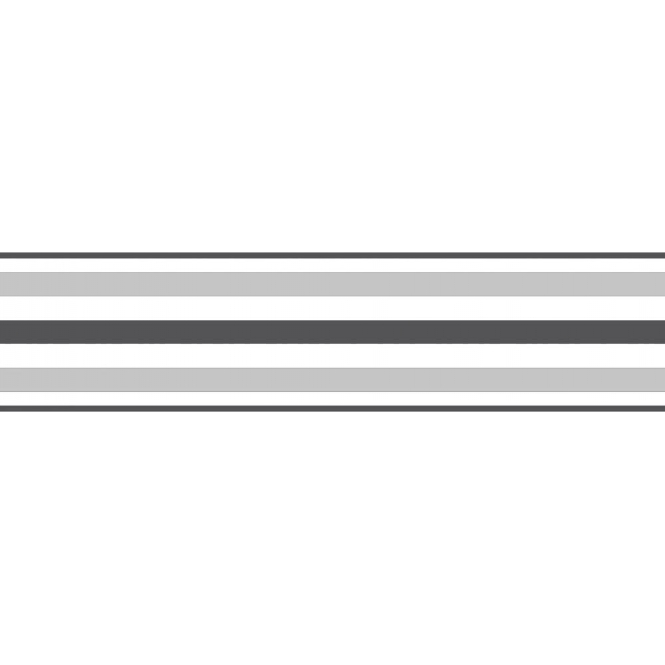 fine decor ceramica stripe self adhesive border black silver