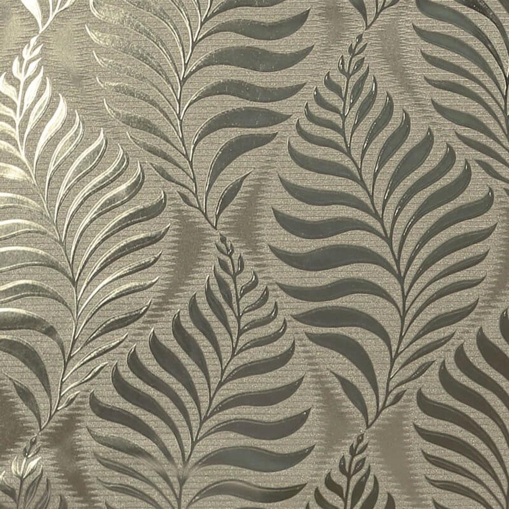 Arthouse Foil Embossed Leaf Wallpaper Natural Gold