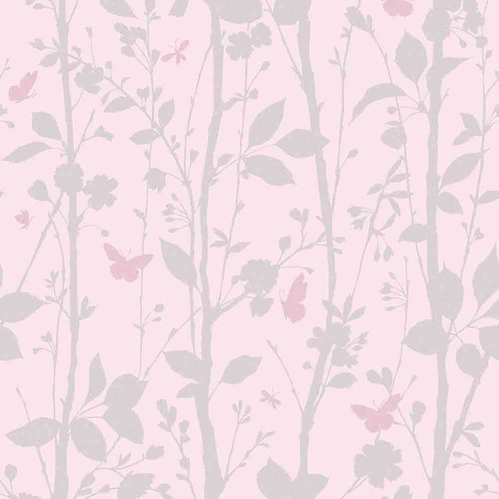 Fine Decor Geo Butterflies Glitter Wallpaper Pink Silver Fd40932