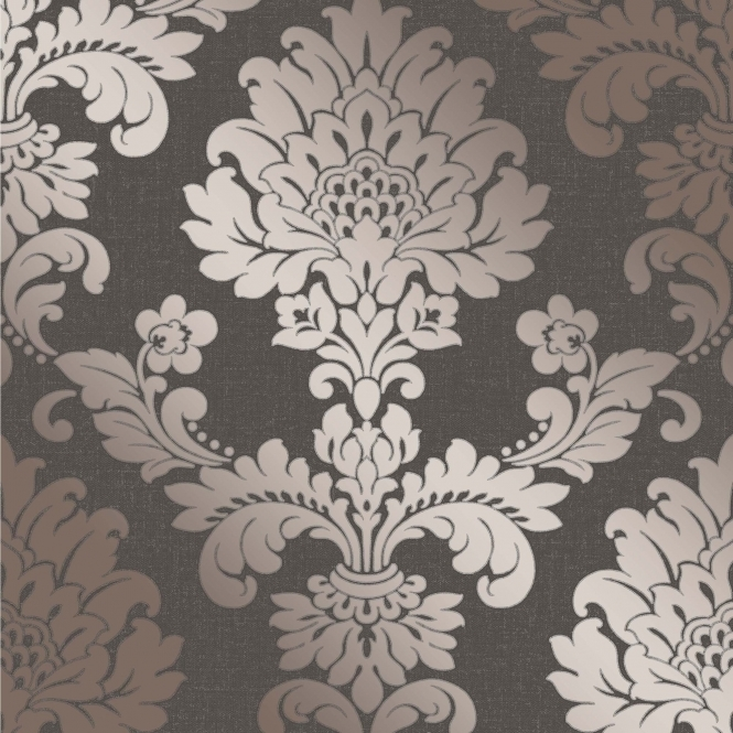 I Love Wallpaper Glisten Damask Wallpaper Bronze (ILW980099)