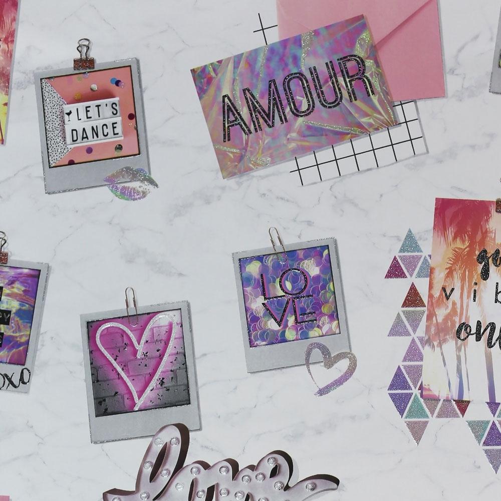 Arthouse Good Vibes Girls Notes Wallpaper Multicoloured 699707 Wallpaper From I Love Wallpaper Uk