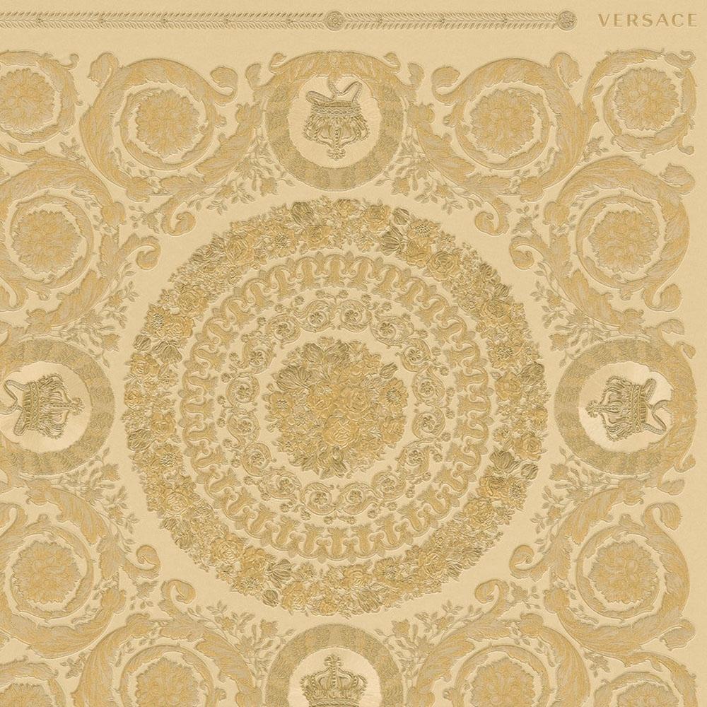 Gold Versace Vanitas Motif Wallpaper 34862-4