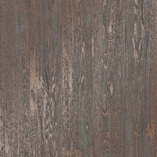 I Love Wallpaper Metallic Plank Wallpaper Brown (ILW980081)