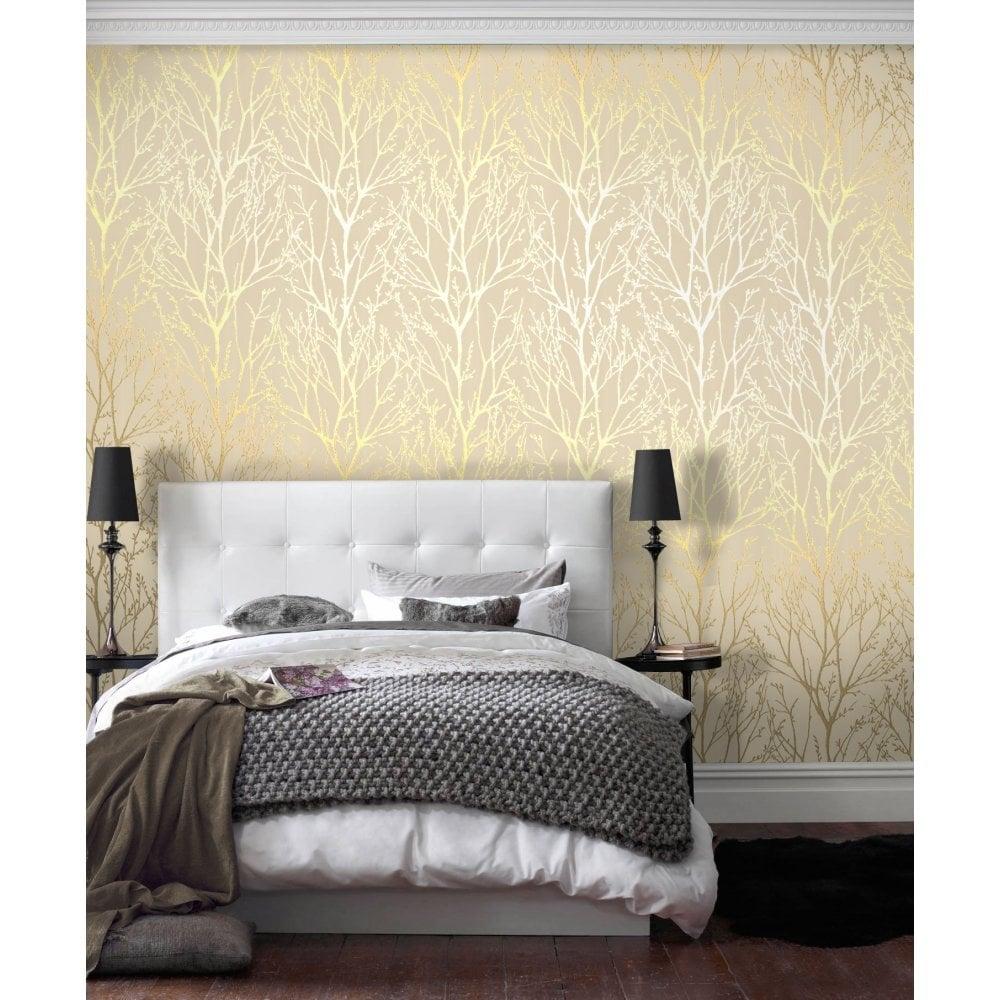 I Love Wallpaper Shimmer Wallpaper Metallic Gold Cream Ilw980005 Wallpaper From I Love Wallpaper Uk
