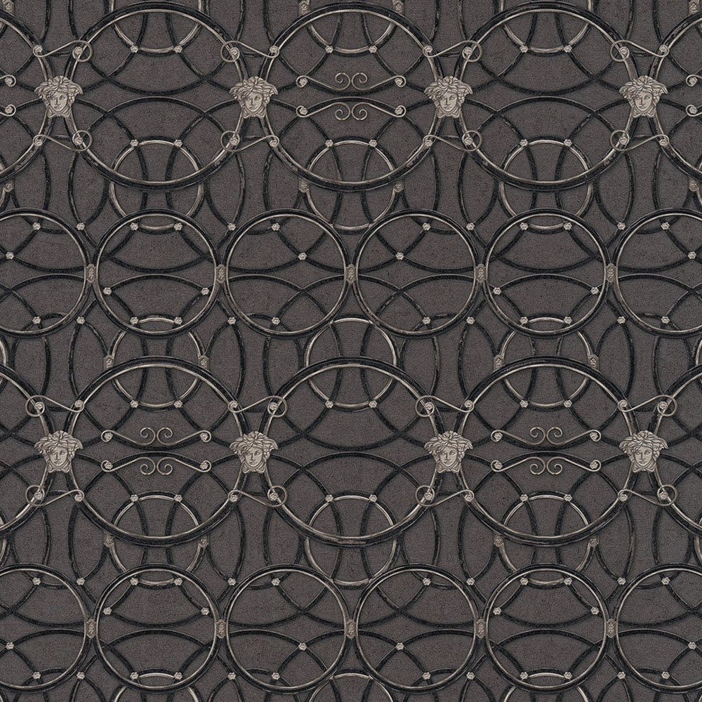 Versace La Scala Del Palazzo Geometric Wallpaper Black Wallpaper From I Love Wallpaper Uk