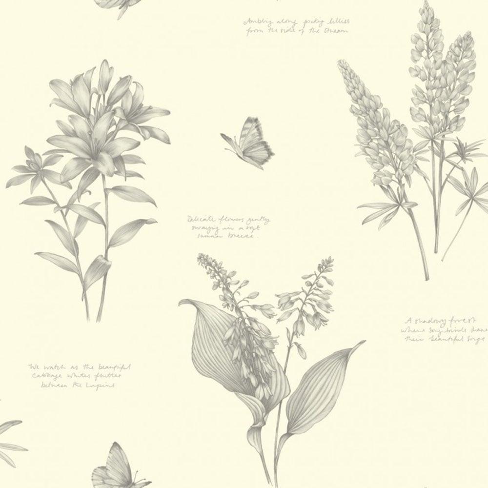 Sophie Conran Linnaeus Floral Wallpaper Dove 664400 Wallpaper