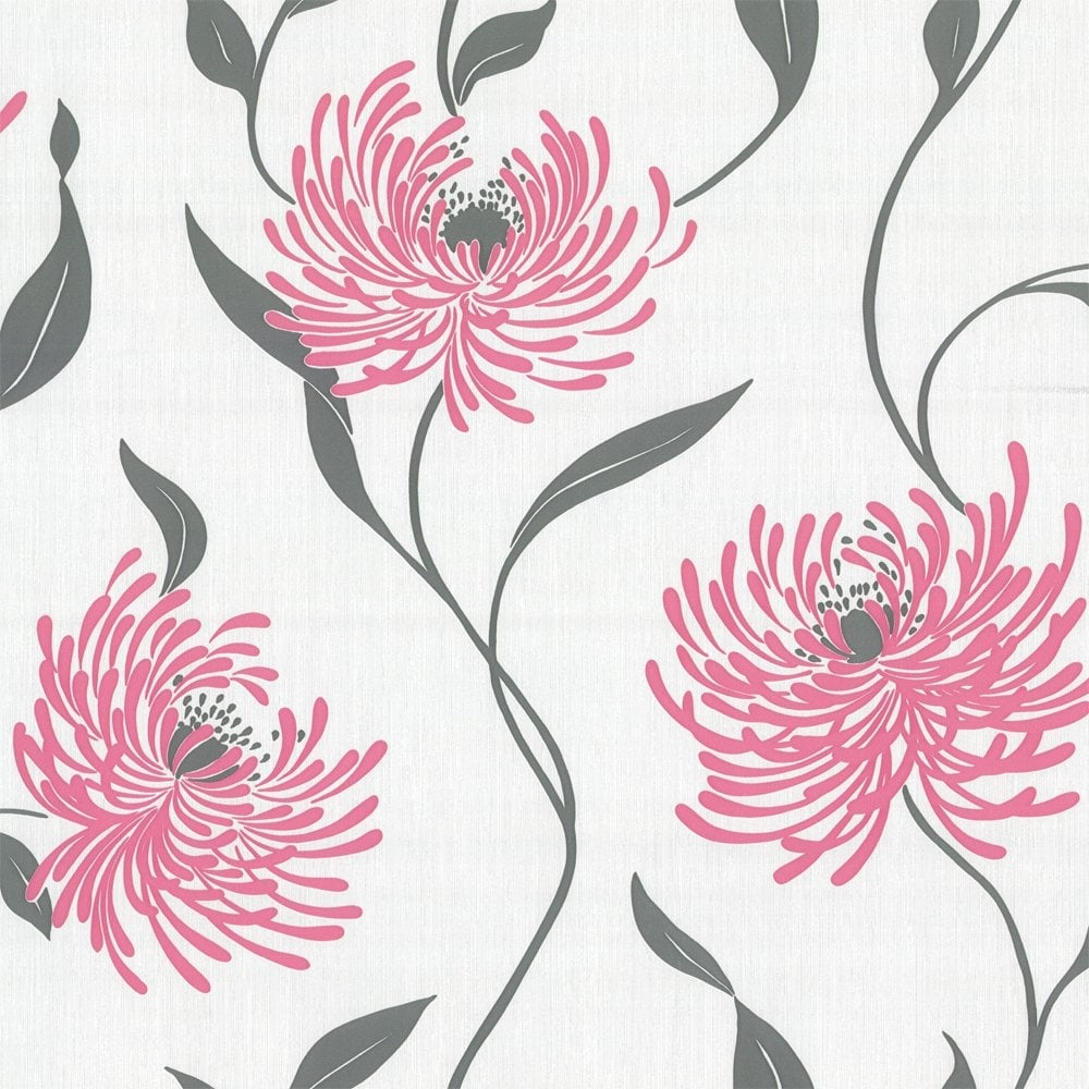 Crown Lola Wallpaper Hot Pink M0465 Wallpaper From I Love