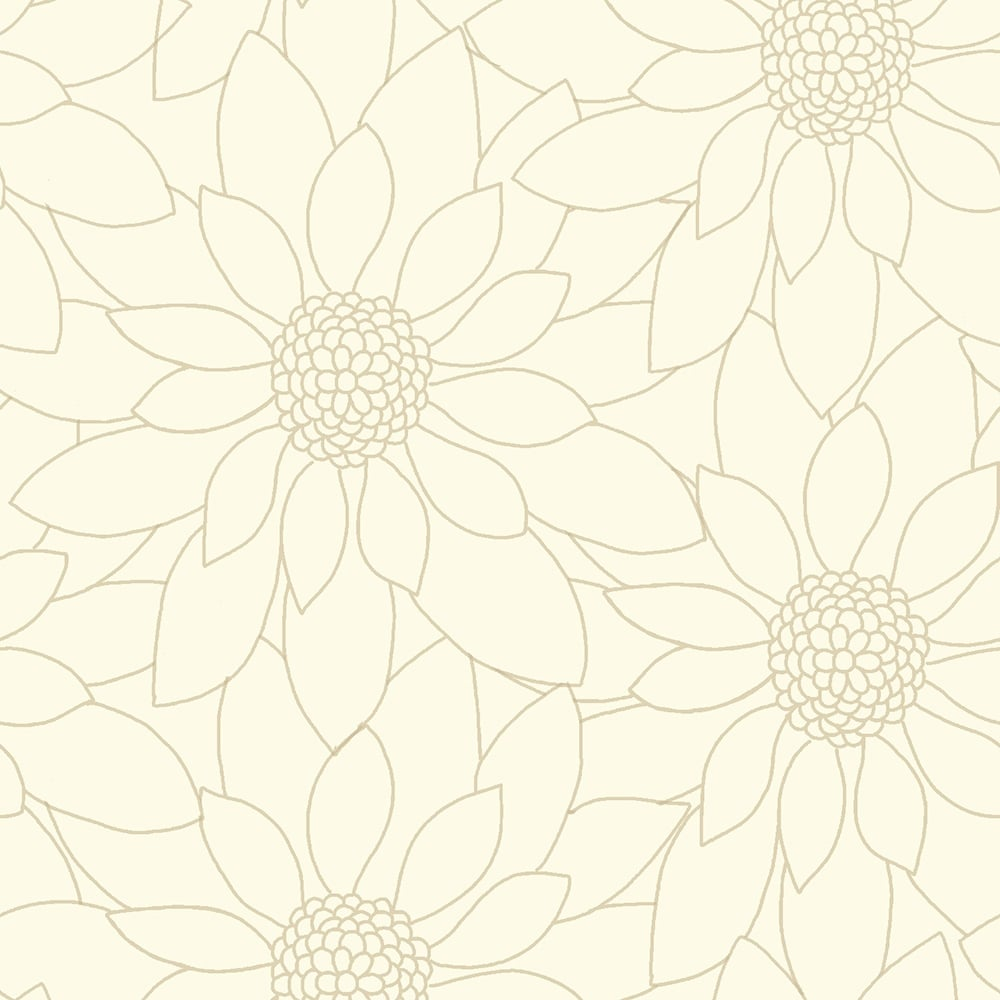 Designer Interiors Louisa Floral Wallpaper Beige 89152