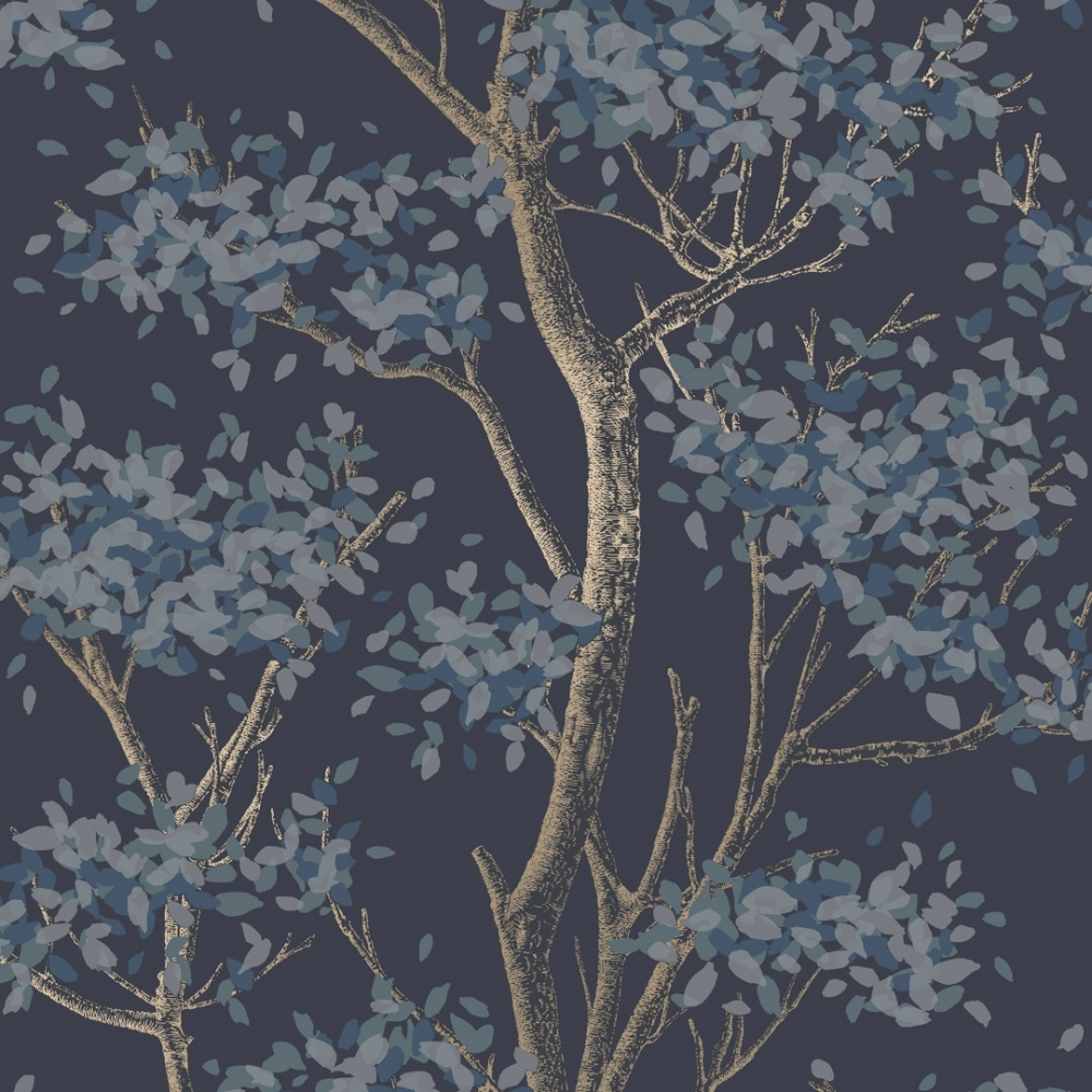 I Love Wallpaper Meadow Floral Trail Wallpaper Navy Wallpaper