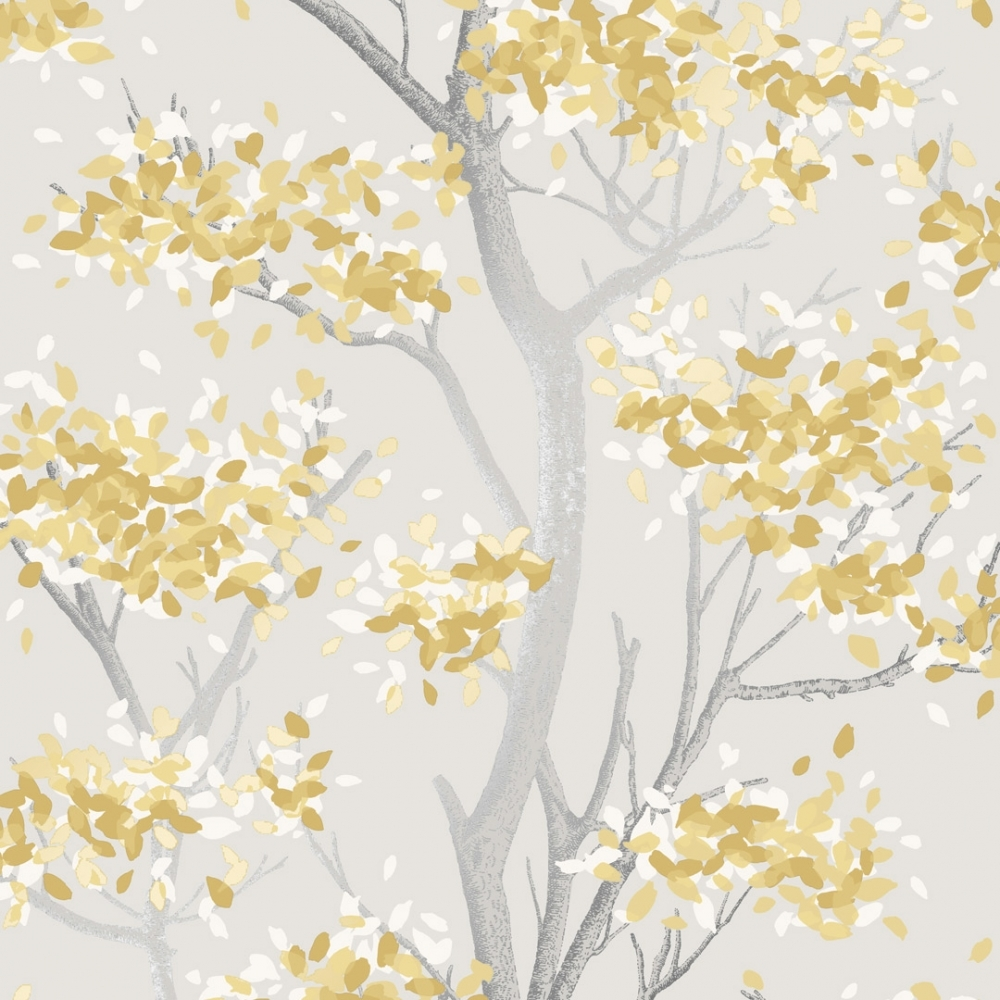 I Love Wallpaper Meadow Floral Trail Wallpaper Yellow Wallpaper