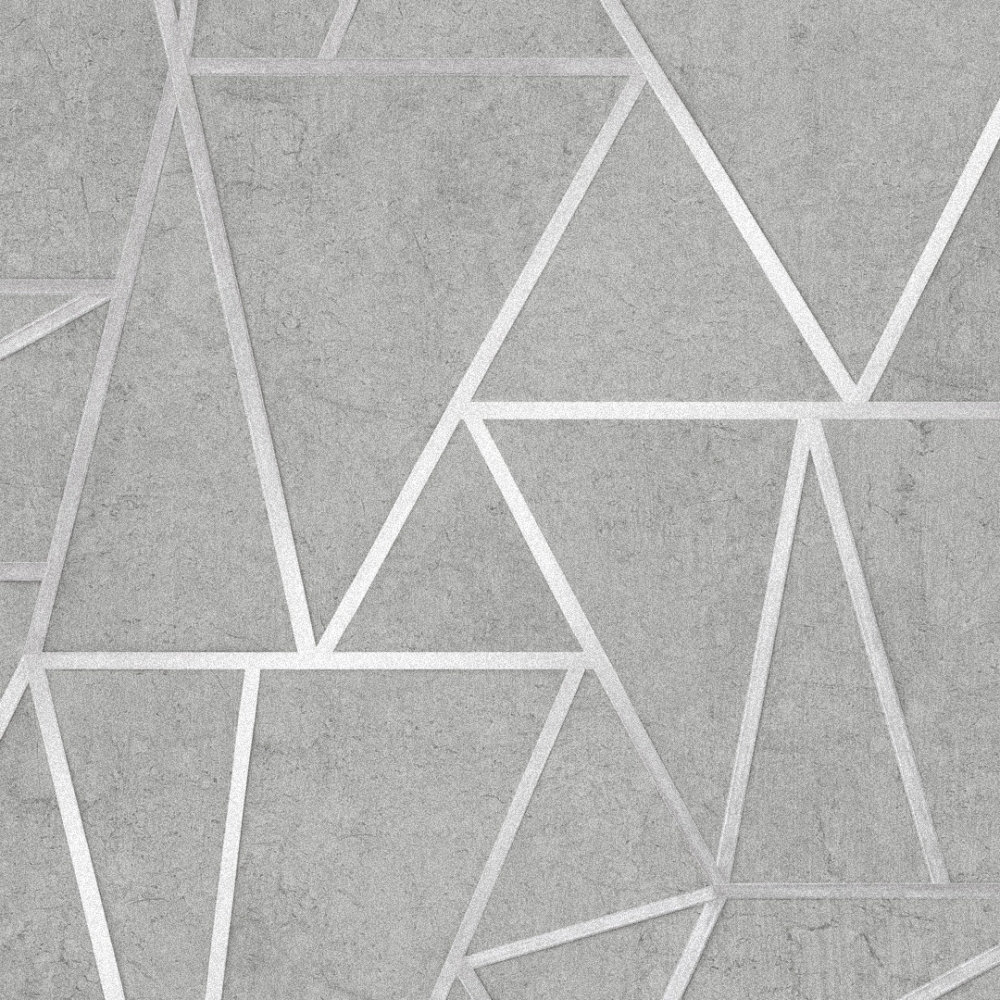 I Love Wallpaper Metro Geometric Apex Wallpaper Grey