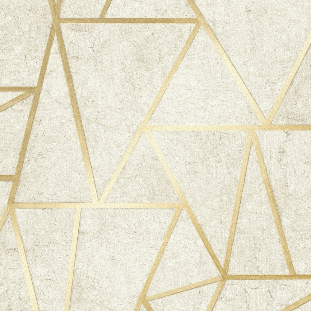 I Love Wallpaper Metro Geometric Apex Wallpaper Neutral