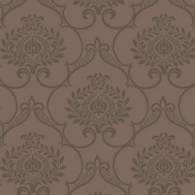 Midnight 2 Ornate Wallpaper Brown (19171516)