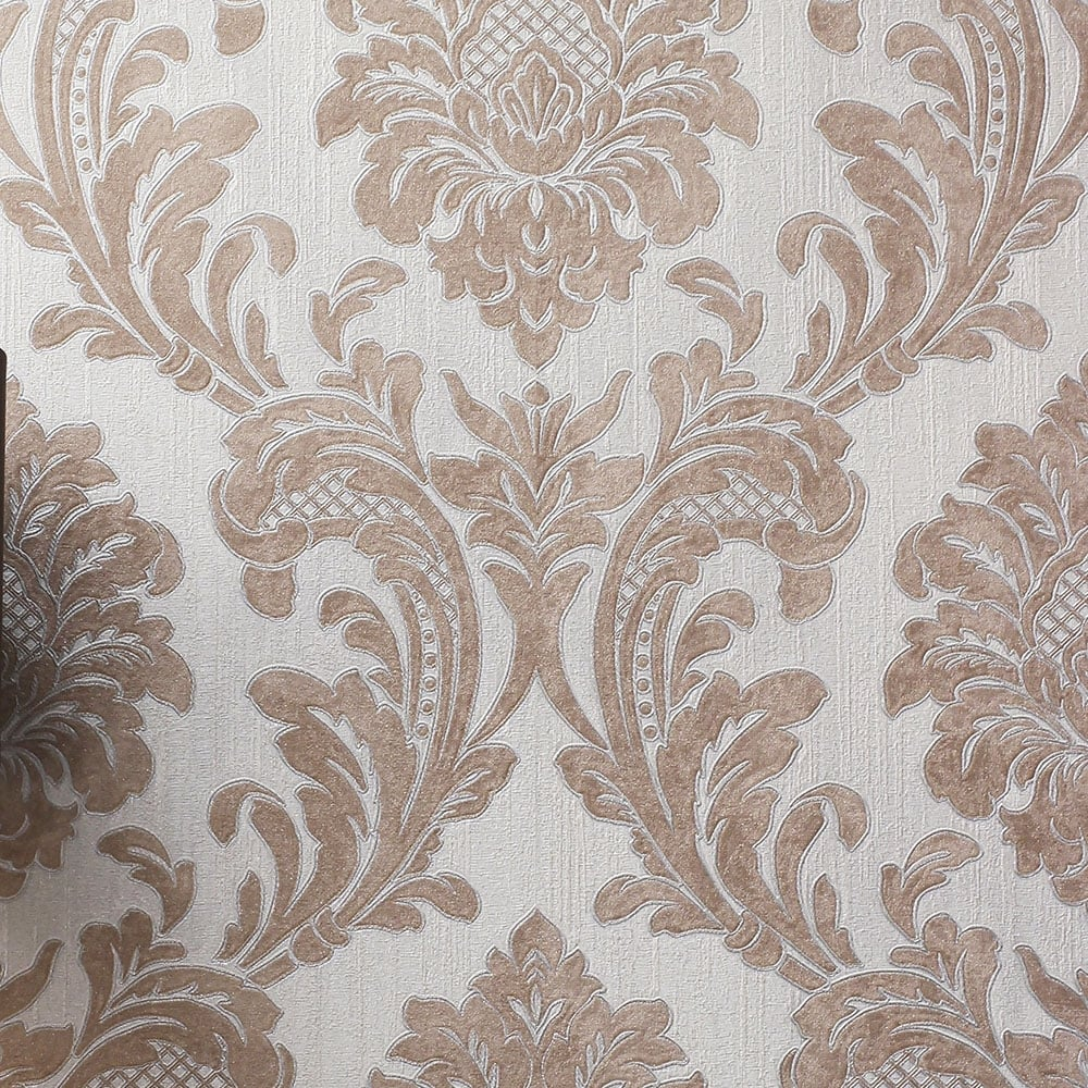 Fine Decor Milano 7 Damask Wallpaper Rose Gold M95595