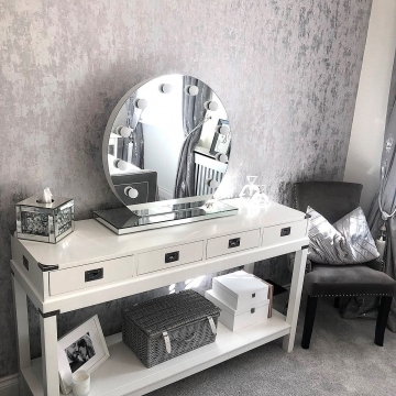 I Love Wallpaper Milan Metallic Wallpaper Grey Silver @mrshinchhome