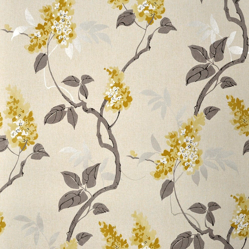 Muriva Jasmine Floral Wallpaper Yellow Cream Wallpaper From I